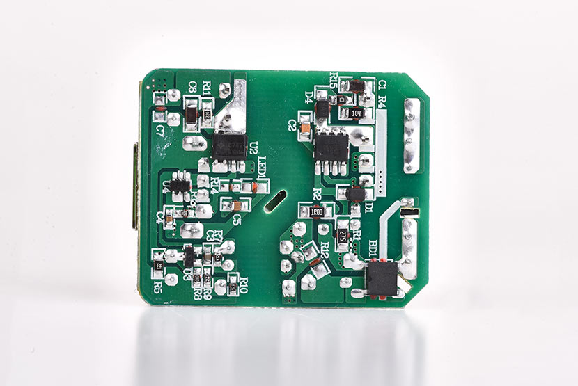 hoco n3 special single port qc3.0 wall charger eu disassembly report pcb board back side