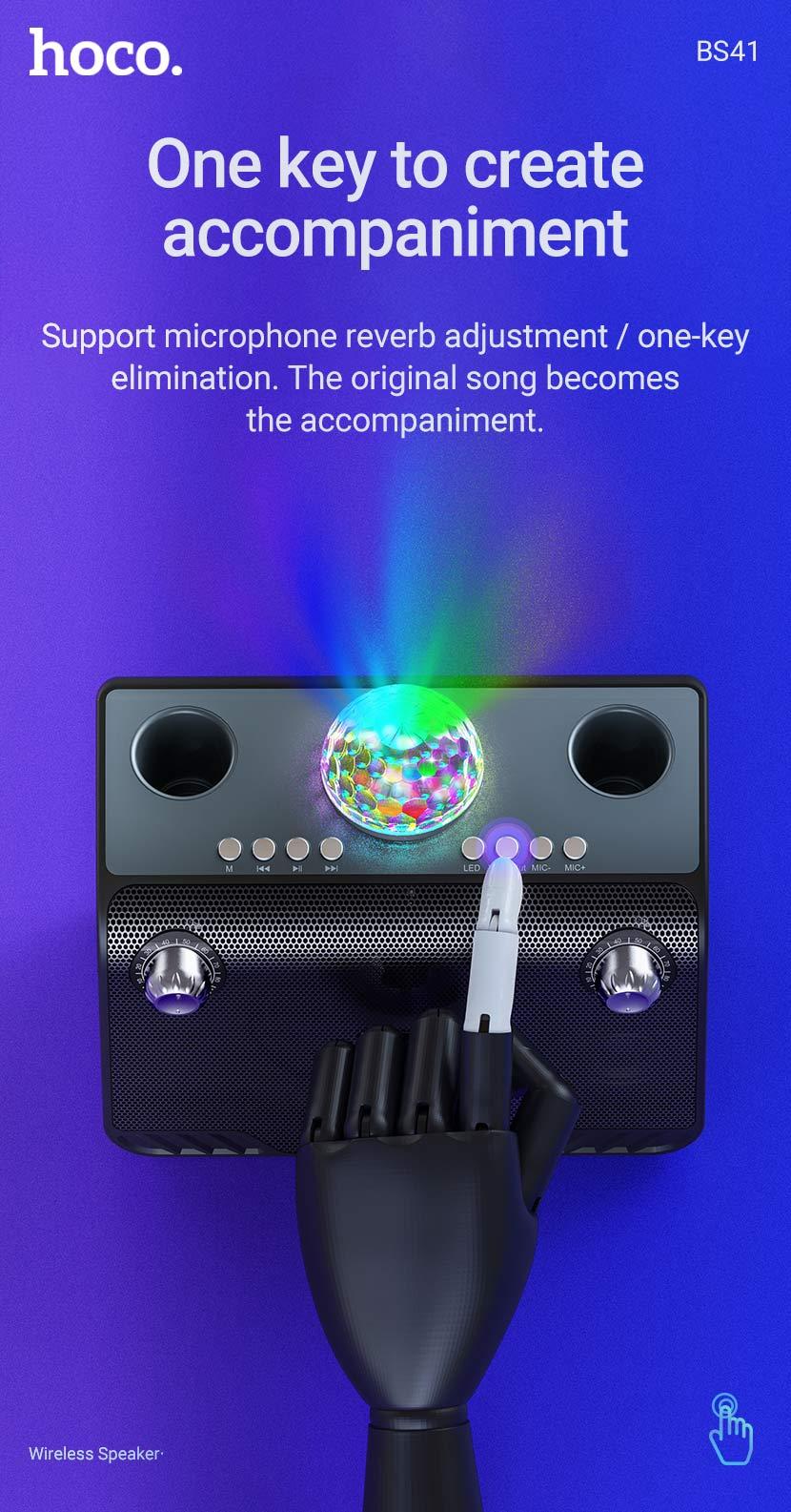 hoco news bs41 warm sound k song wireless speaker accompaniment en