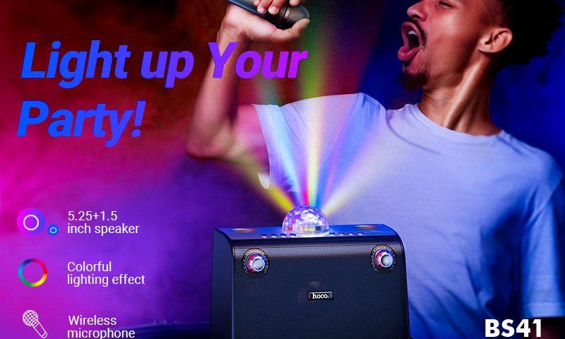 hoco news bs41 warm sound k song wireless speaker banner en