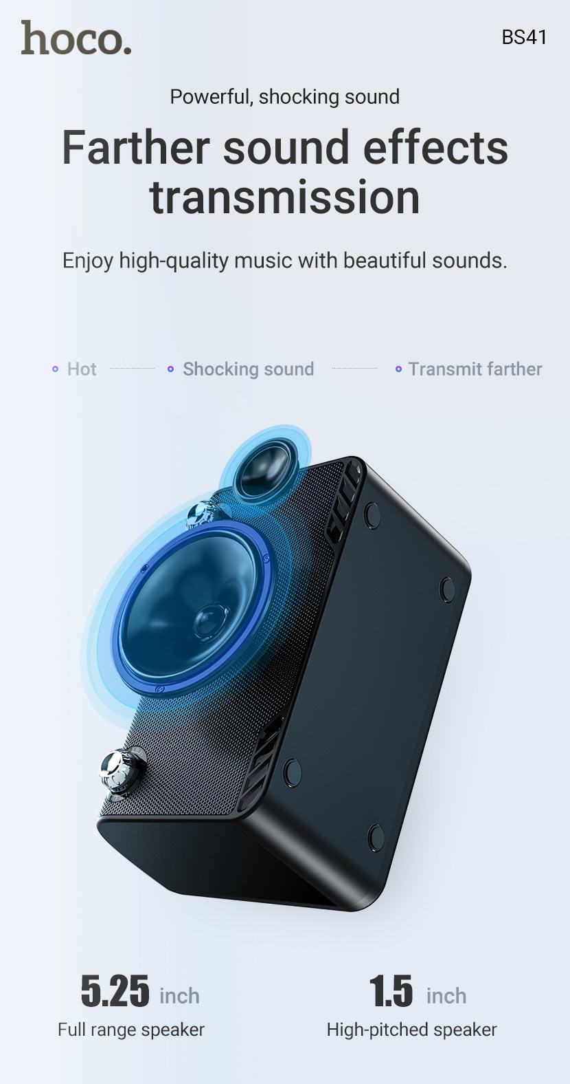 hoco news bs41 warm sound k song wireless speaker effects en