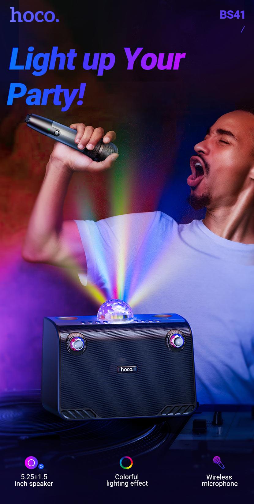 hoco news bs41 warm sound k song wireless speaker en