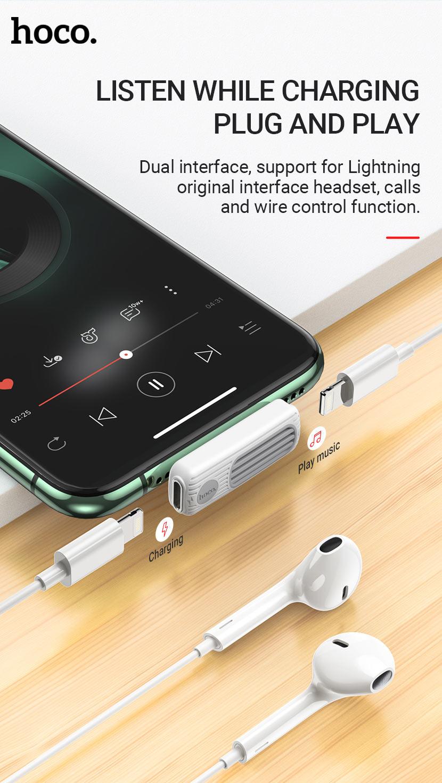 hoco news ls29 dual lightning digital audio converter plug and play en