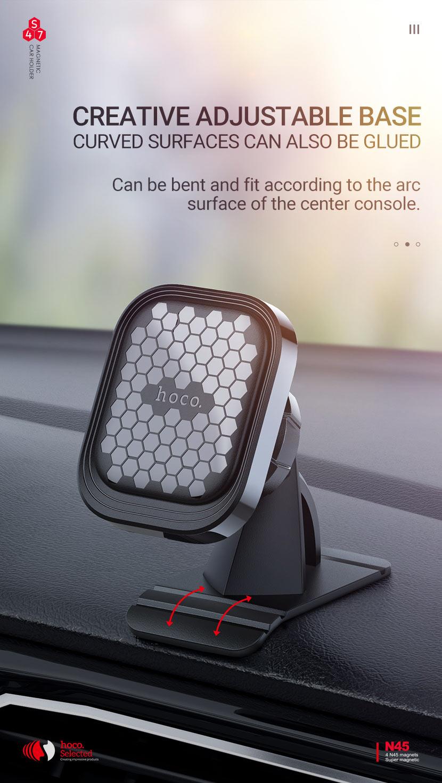 hoco selected news s47 fuerte series center console magnetic car holder base en