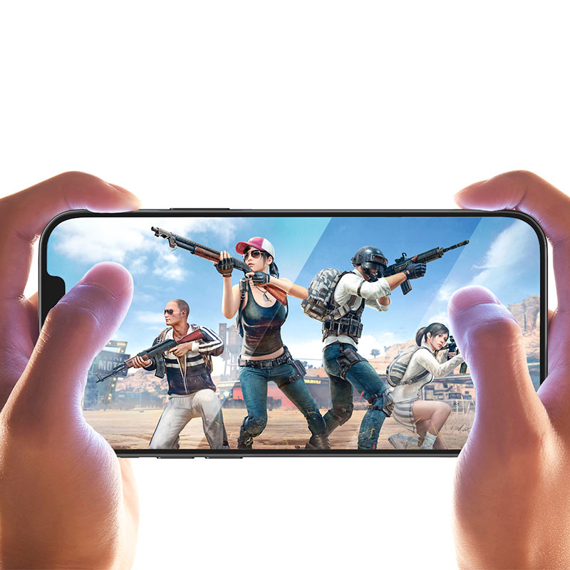 hoco shatterproof ultra fine edge full screen hd tempered film a19 for iphone12 mini pro max gaming