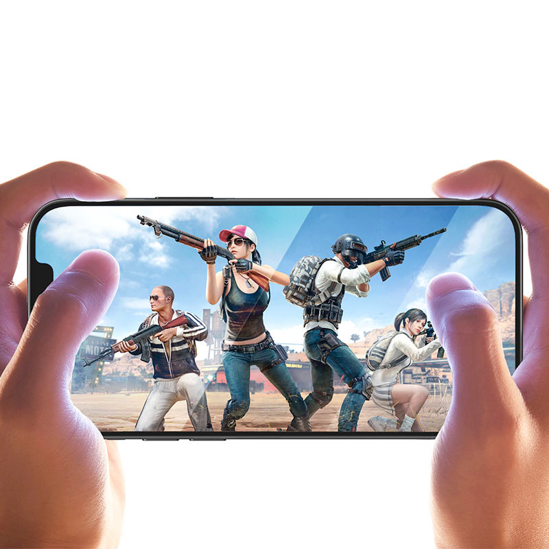 hoco ultra thin full screen transparent hd tempered film a20 for iPhone12 mini pro max gaming