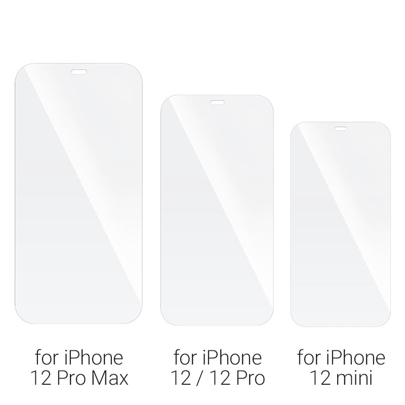 hoco ultra thin full screen transparent hd tempered film a20 for iPhone12 mini pro max models
