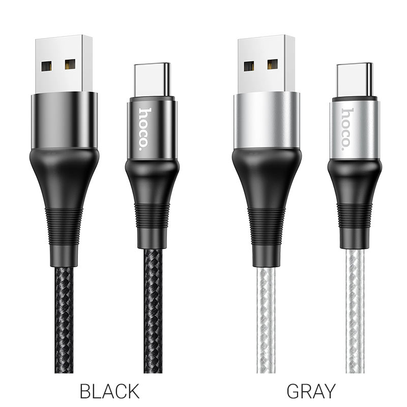 hoco x50 excellent charging data cable for type c colors