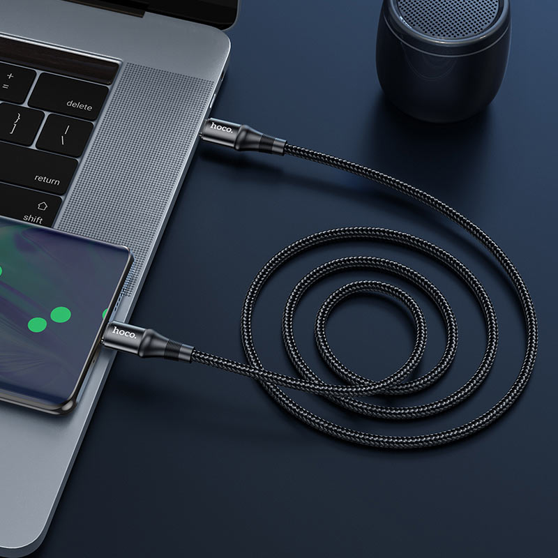 hoco x50 type c to type c exquisito 100w charging data cable overview