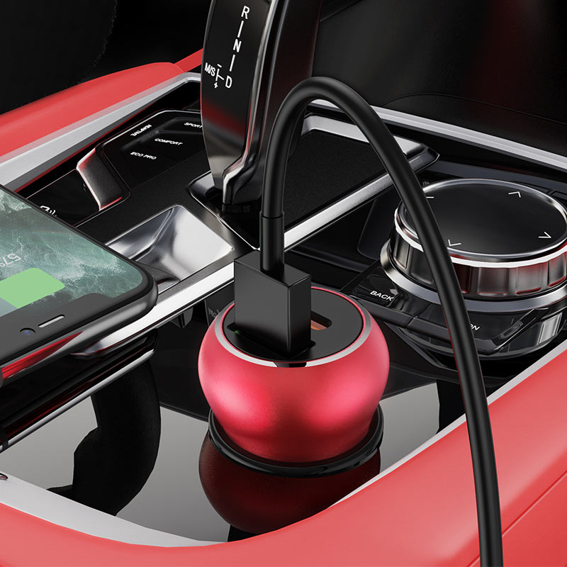 hoco z38 resolute pd20w qc3.0 car charger interior red