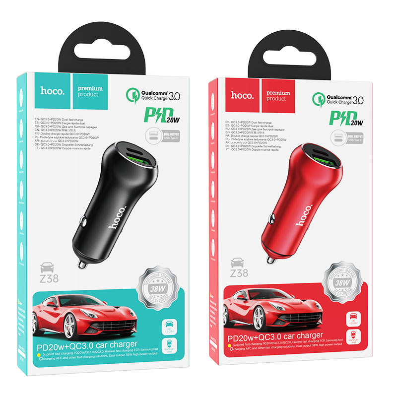 hoco z38 resolute pd20w qc3.0 car charger packages