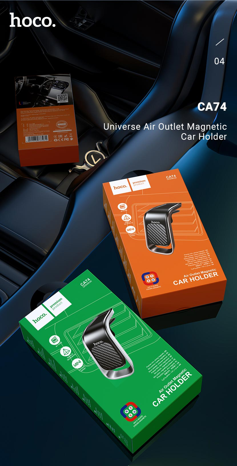 hoco news ca74 universe air outlet magnetic car holder package