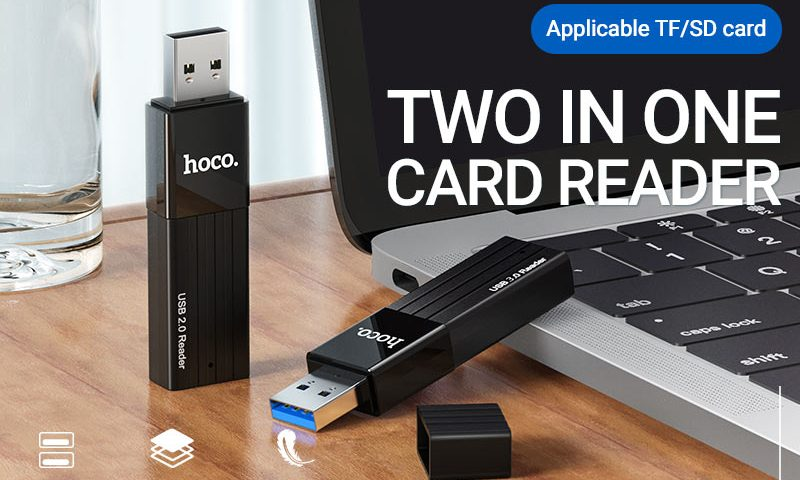 hoco news hb20 mindful 2in1 card reader banner en