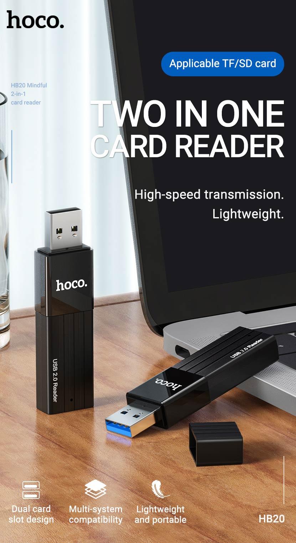 hoco news hb20 mindful 2in1 card reader en