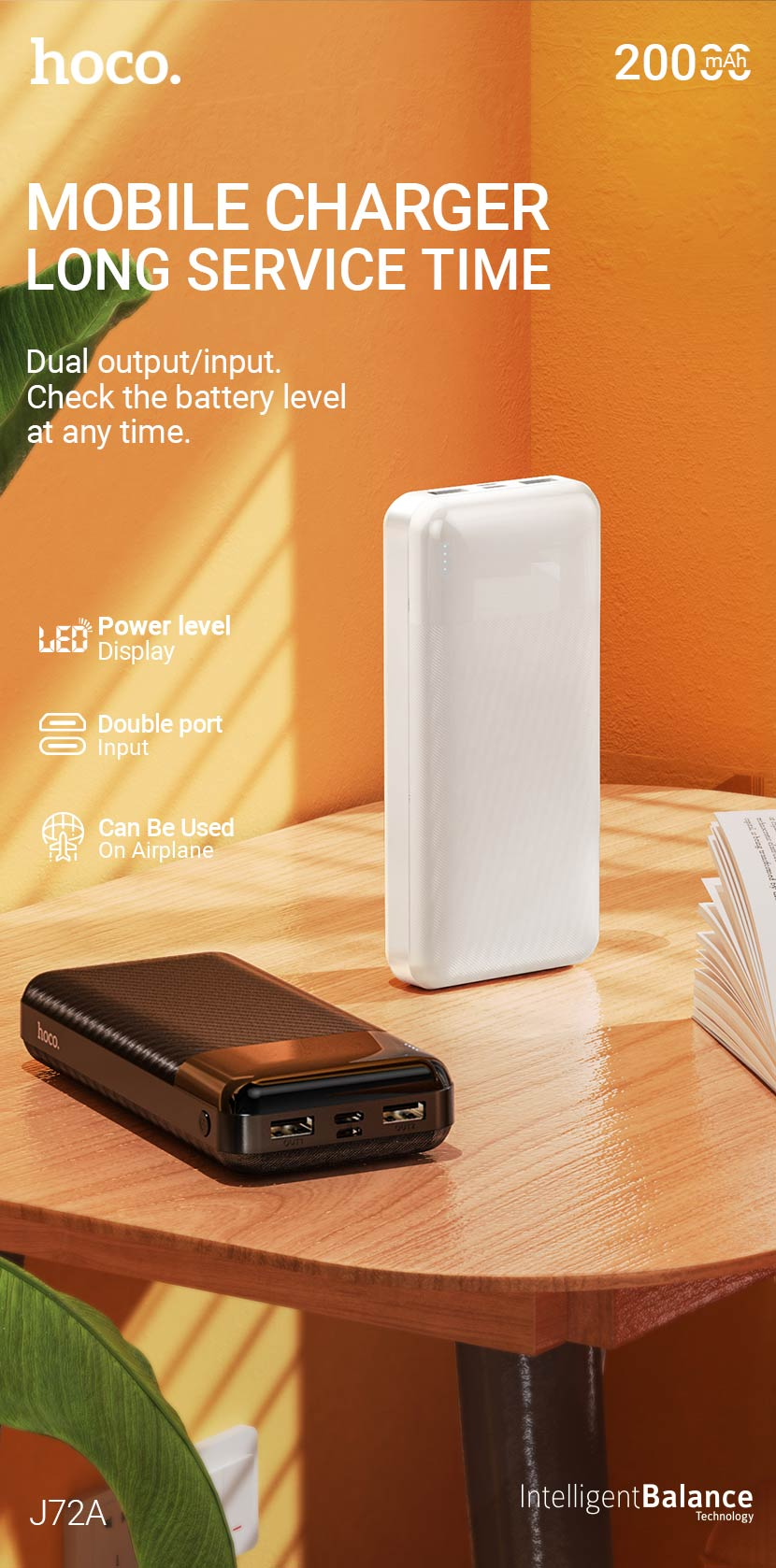 hoco news j72a easy travel power bank 20000mah en