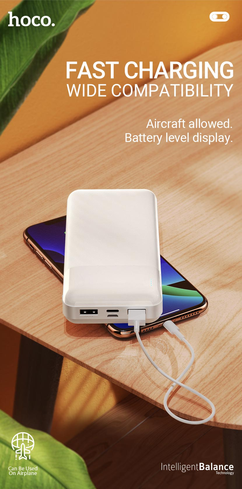 hoco news j72a easy travel power bank 20000mah fast en