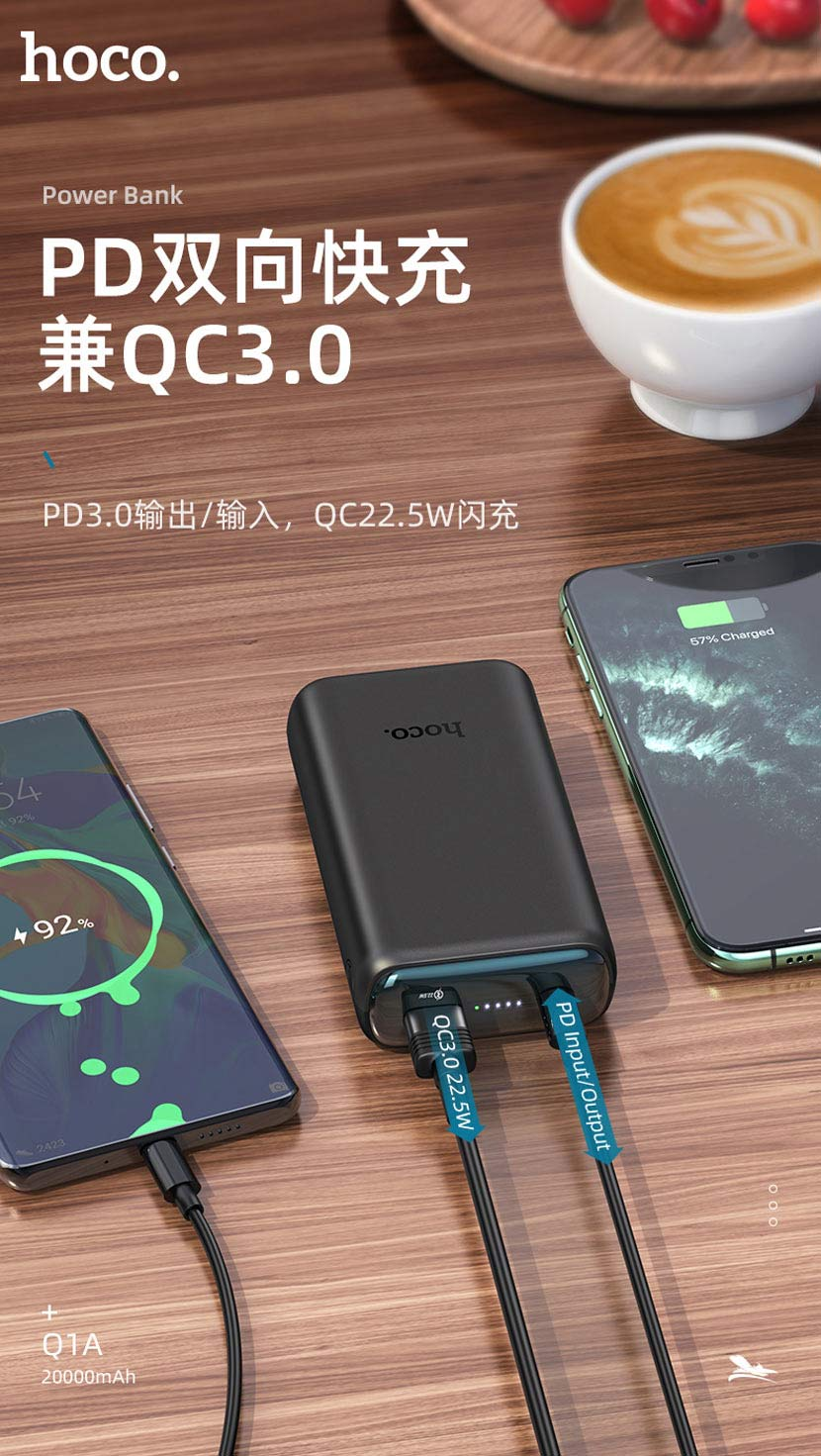 hoco news q1 q1a kraft fully compatible power bank fast cn