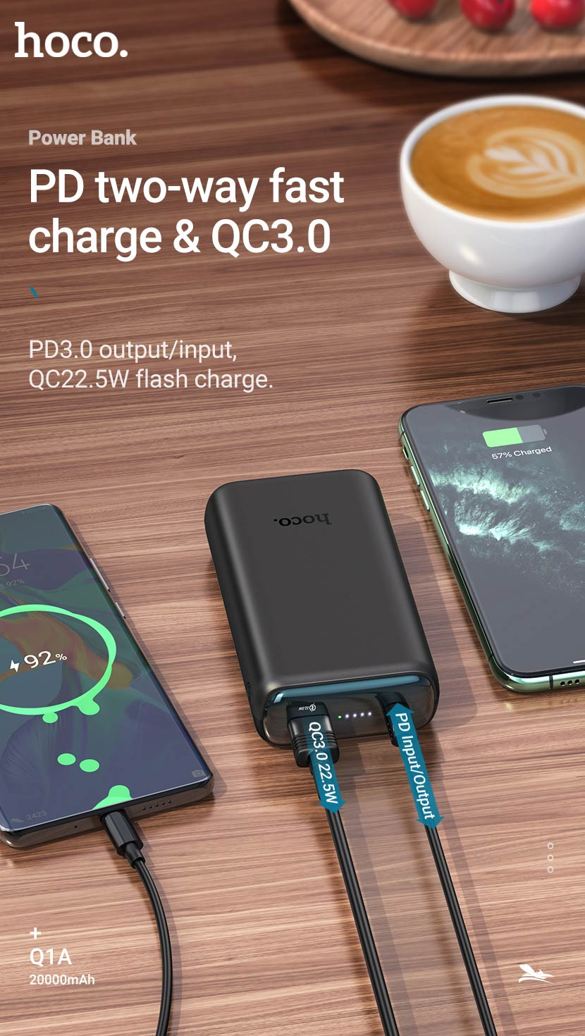 hoco news q1 q1a kraft fully compatible power bank fast en
