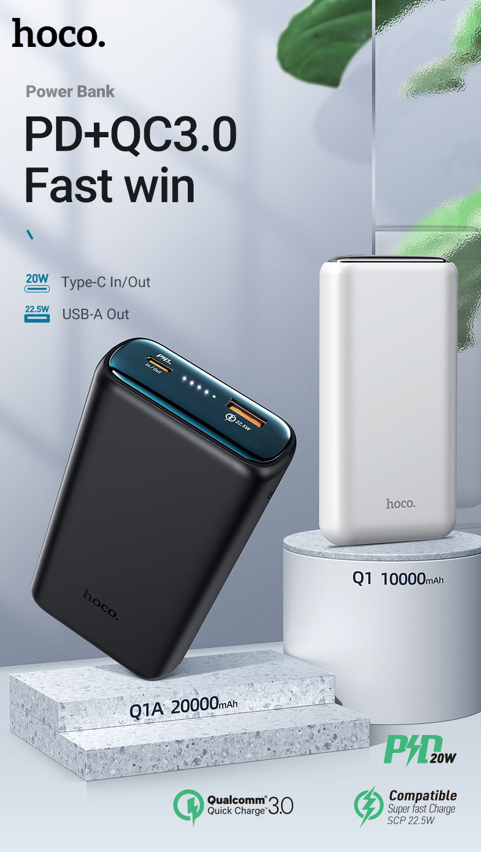 hoco news q1 q1a kraft fully compatible power bank input output en