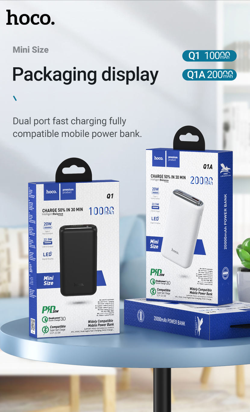 hoco news q1 q1a kraft fully compatible power bank package en