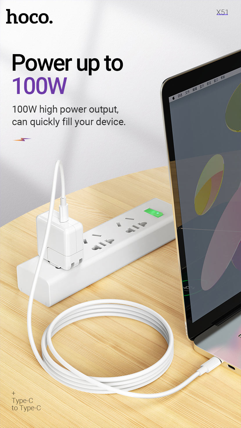 hoco news x51 high power 100w charging data cable output en