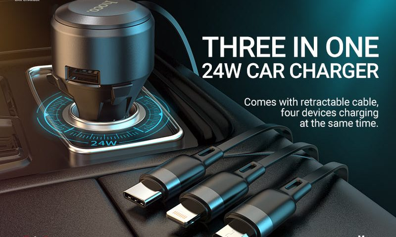 hoco selected news s27 tributo single port car charger with 3in1 cable banner en