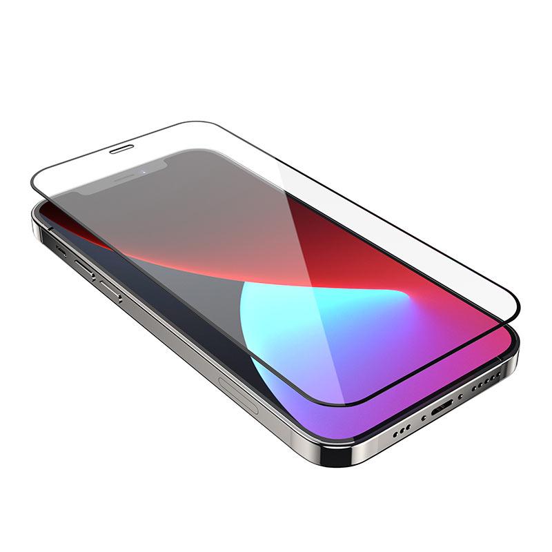 浩酷 a12 纳米3d全屏不碎边钢化膜 iphone 12 mini pro promax 保护