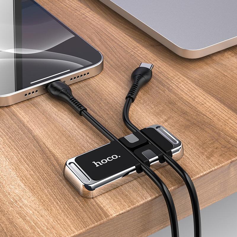 hoco ca77 carry магнитный держатель с намоткой кабеля стол