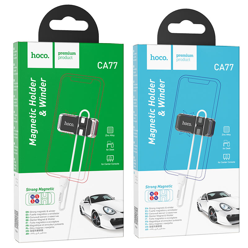 hoco ca77 carry магнитный держатель с намоткой кабеля упаковка