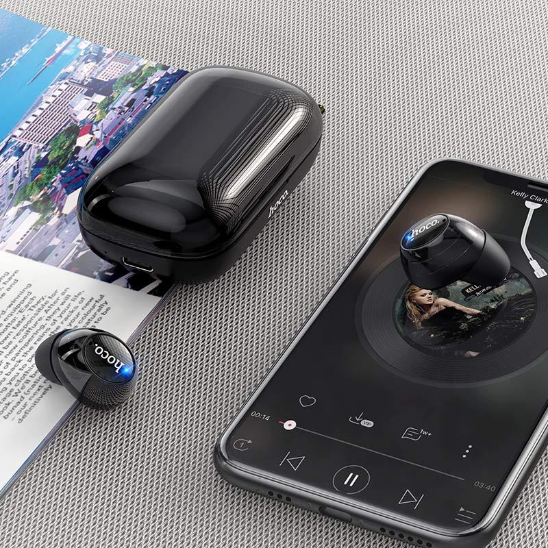 hoco es52 delight tws wireless bt headset interior