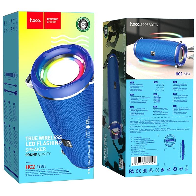 hoco hc2 xpress sports wireless speaker package blue