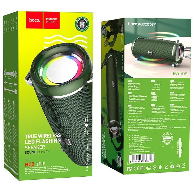 hoco hc2 xpress sports wireless speaker package dark green