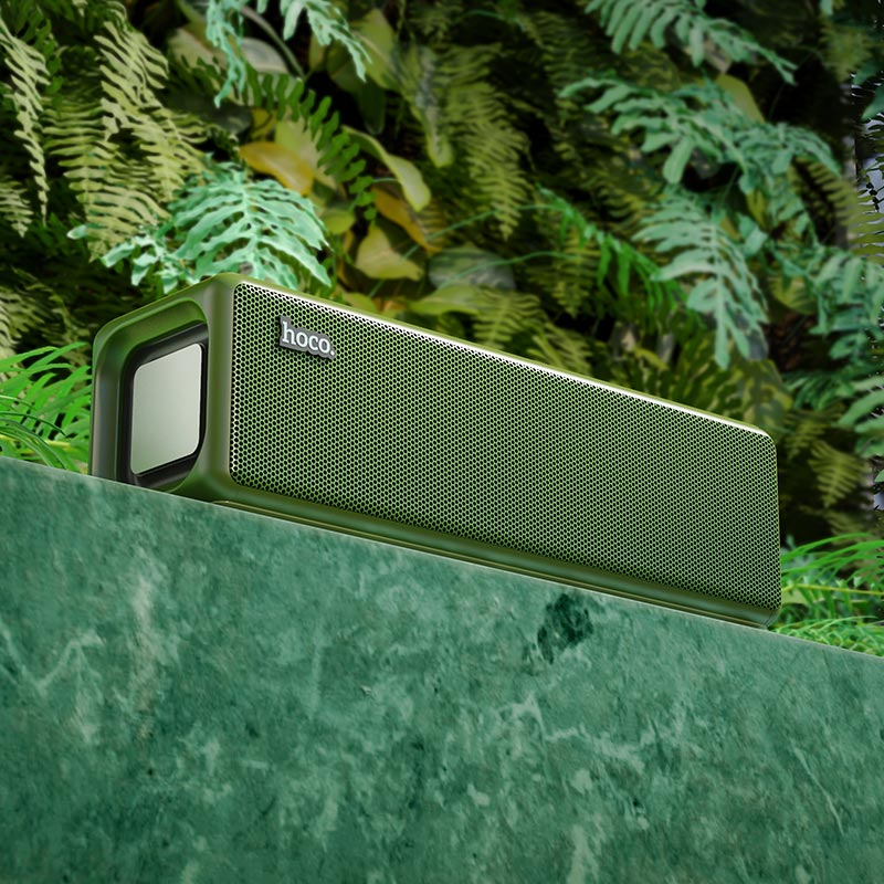 hoco hc3 bounce sports wireless speaker outdoor dark green