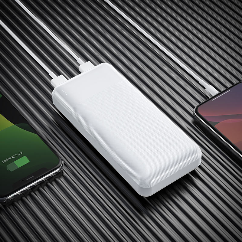 hoco j72a easy travel power bank 20000mah charging white