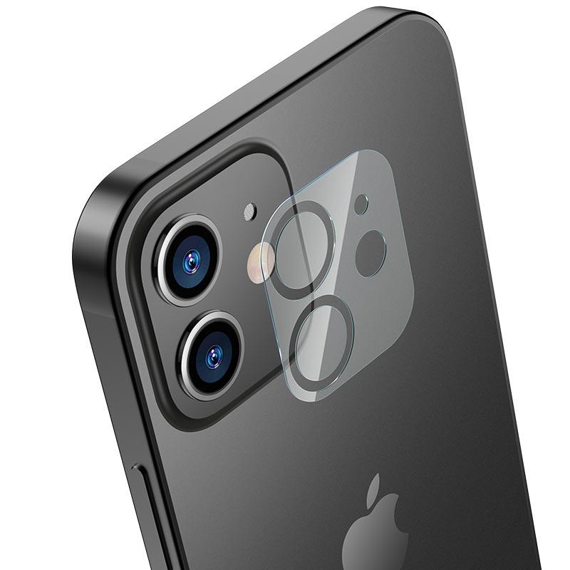 hoco lens flexible tempered film v11 for iphone 12 12mini align