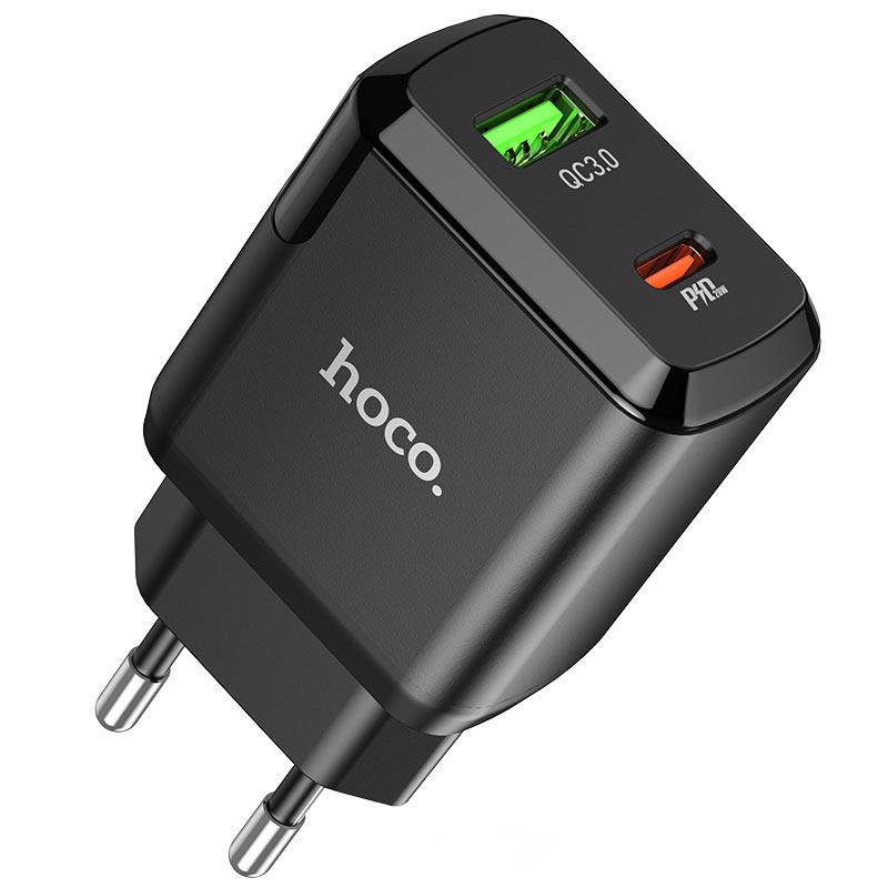 hoco n5 favor dual port pd20w qc3 wall charger eu