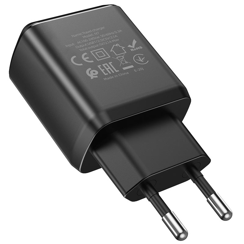 hoco n7 speedy dual port wall charger eu specs