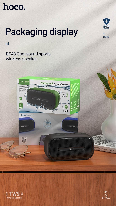 hoco news bs43 cool sound sports wireless speaker package en