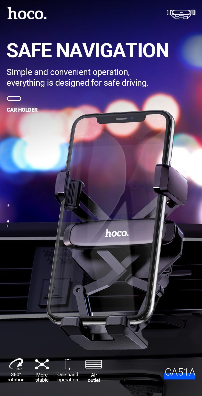 hoco news ca51a tour gravity linkage car holder safe en