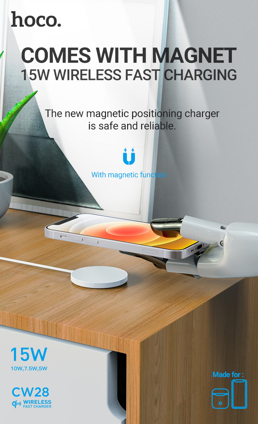 hoco news cw28 original series magnetic wireless fast charger en