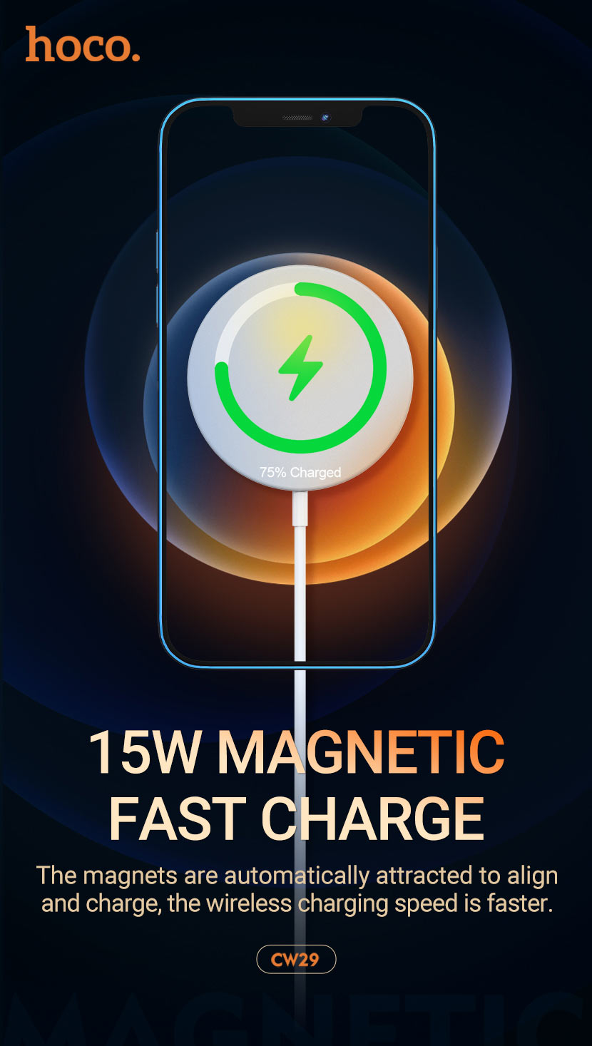 hoco news cw29 magnetic wireless fast charger en
