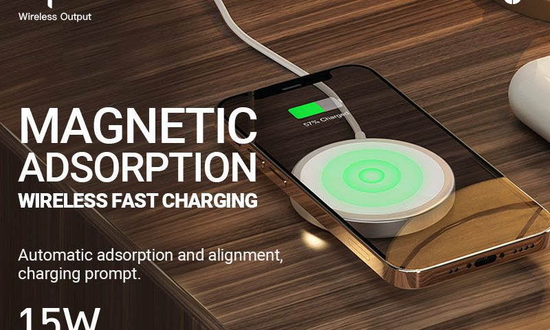 hoco news cw30 original series magnetic wireless fast charger banner en