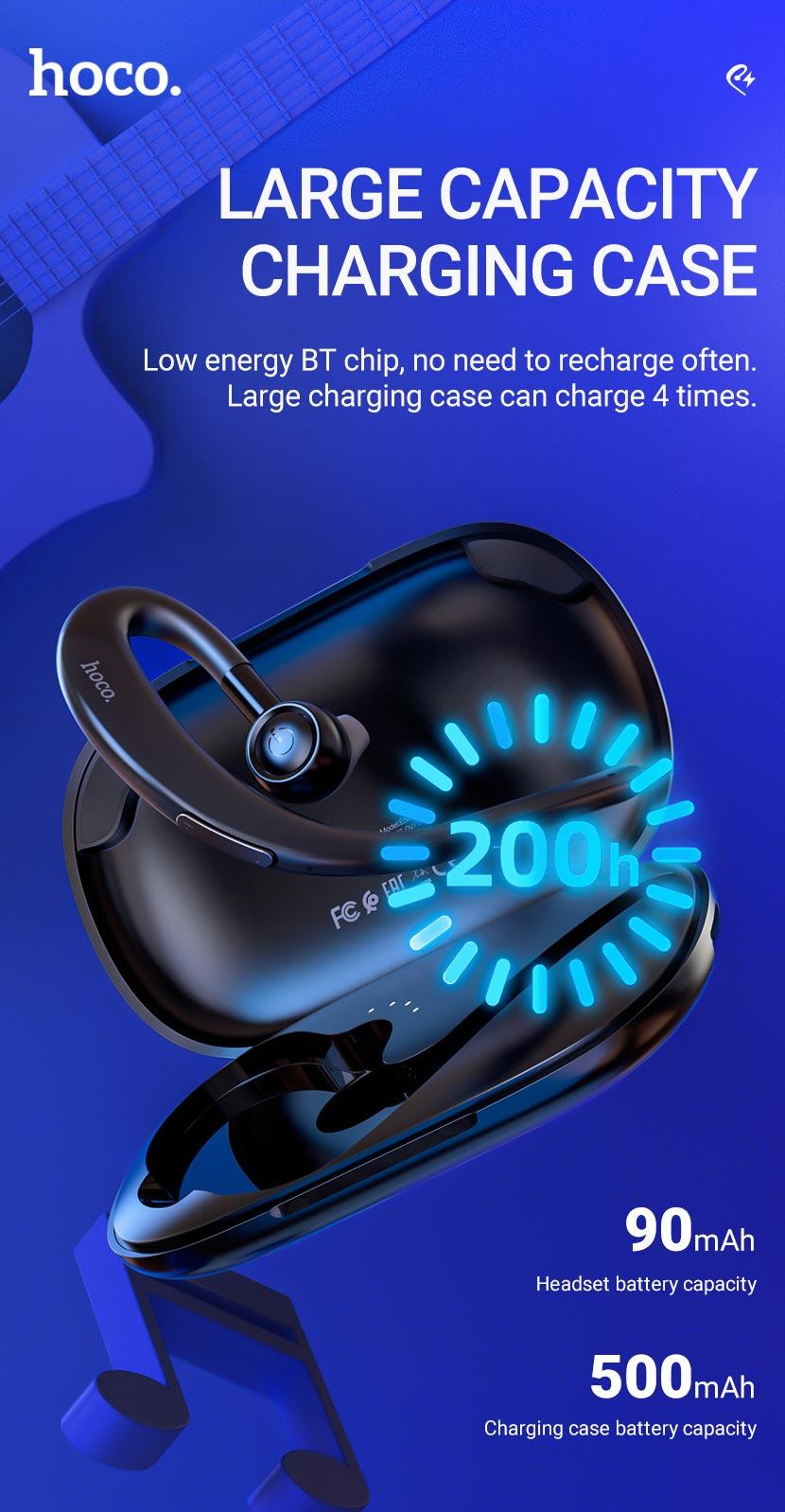 hoco news e56 shine business wireless headset case en