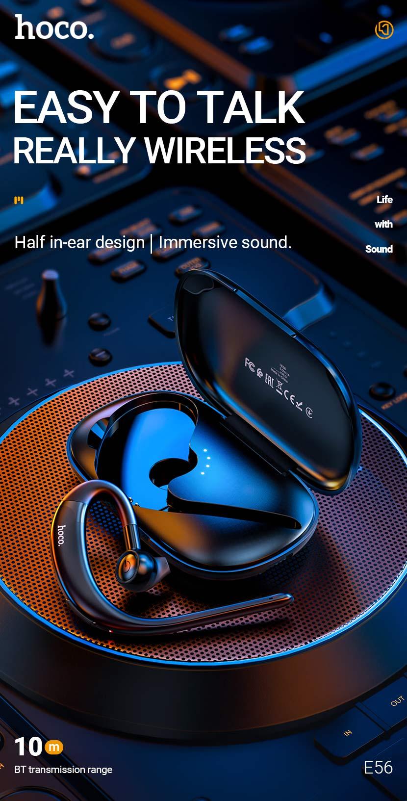 hoco news e56 shine business wireless headset en