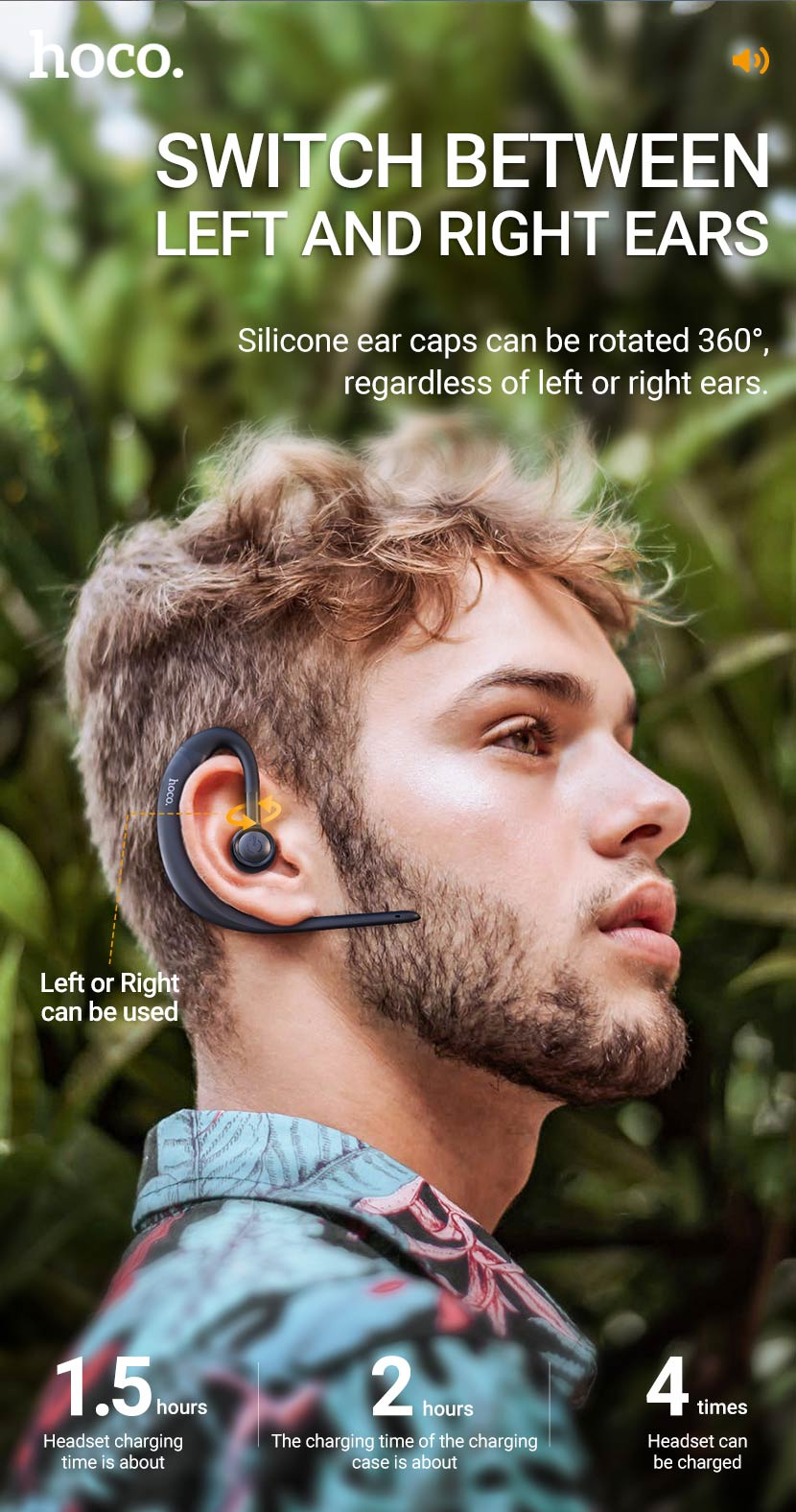 hoco news e56 shine business wireless headset left right en