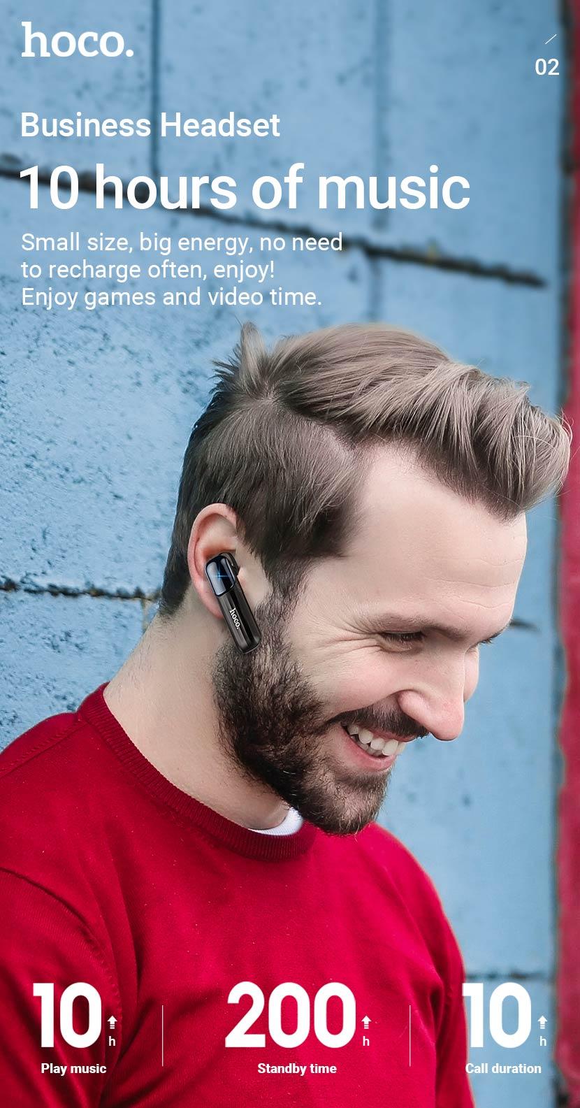 hoco news e57 essential business bt headset 10hours en