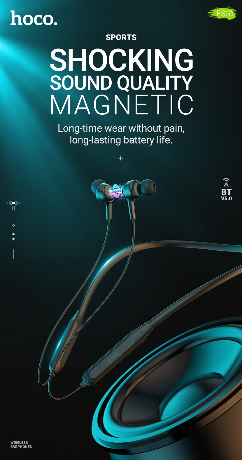 hoco news es51 era sports wireless earphones en
