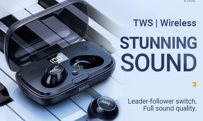 hoco news es52 delight tws wireless bt headset banner en