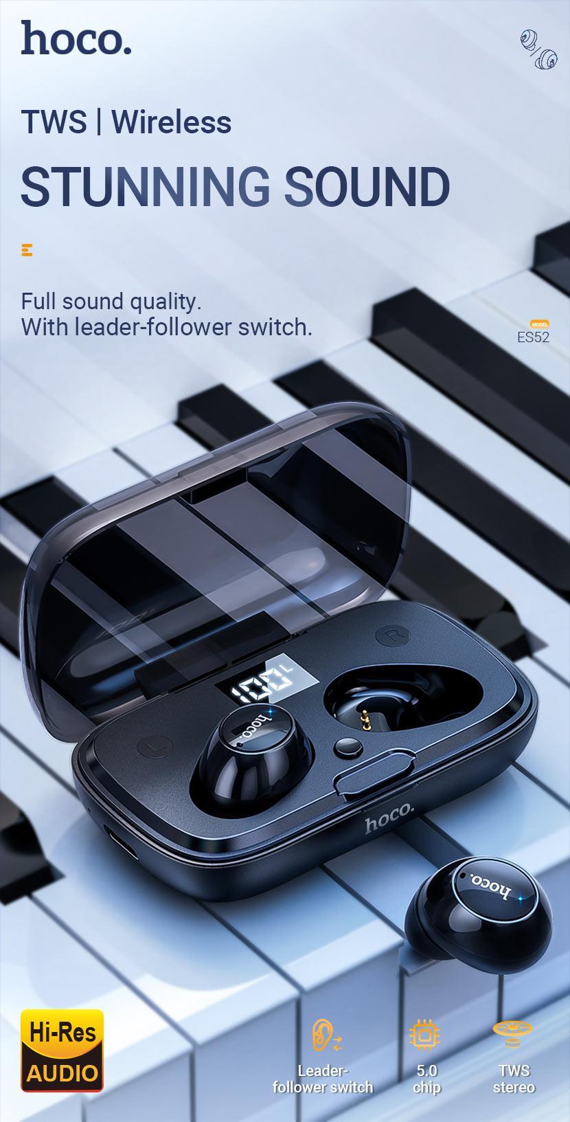 hoco news es52 delight tws wireless bt headset en