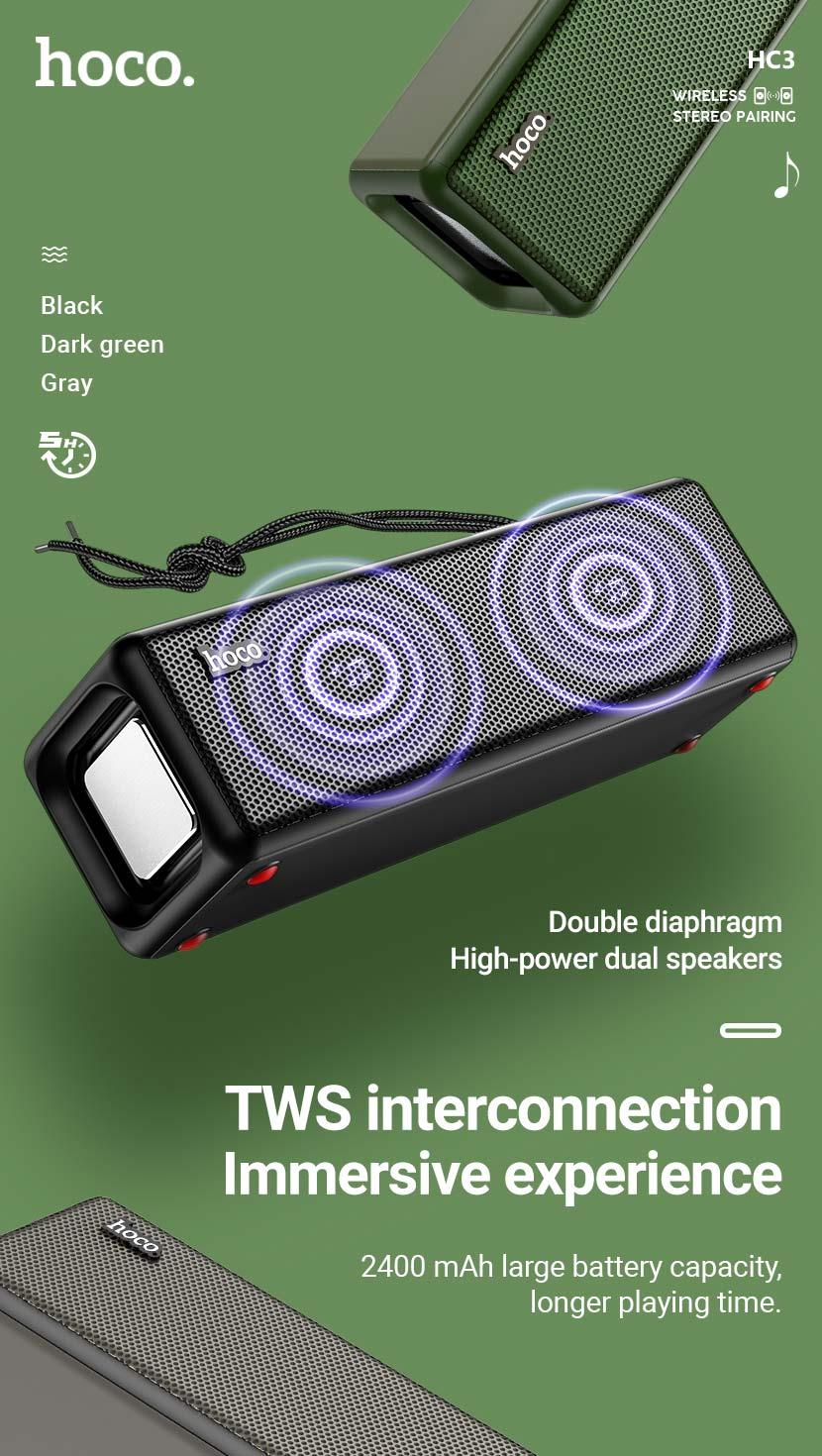 hoco news hc3 bounce sports wireless speaker tws en