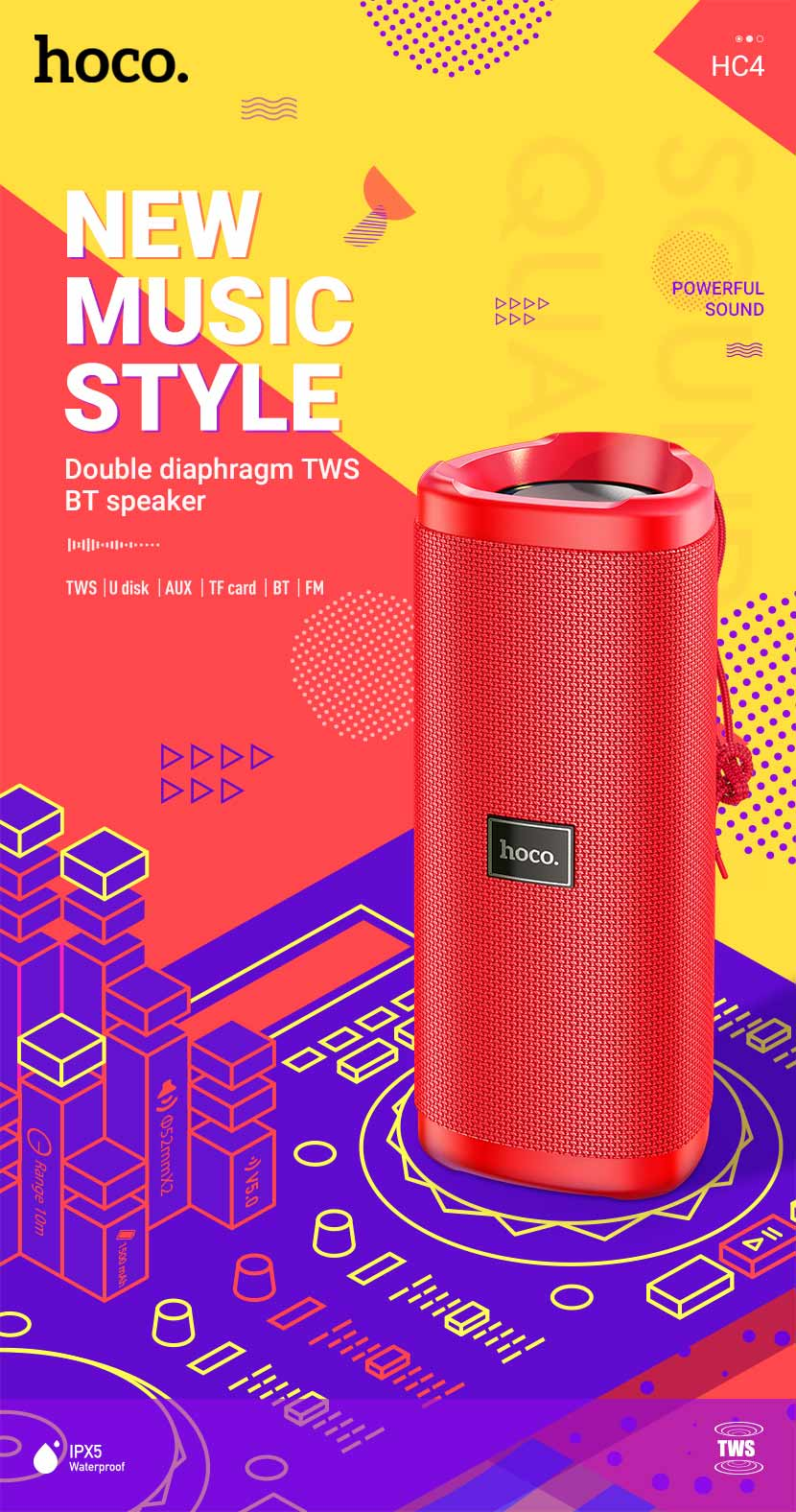 hoco news hc4 bella sports bt speaker en